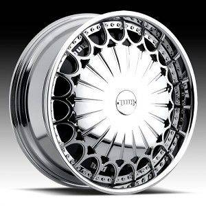 26 DUB SPIN Kingster Wheel SET 26x10 Chrome Spinner Rims For RWD 5