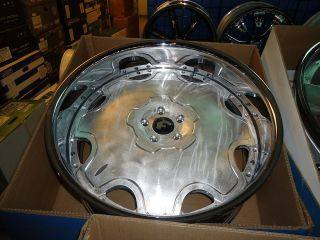 24X9 24X10 FORGIATO FIORE 3 PIECE WHEELS 5X4 3/4 CHEVELLE, BOX CHEVY