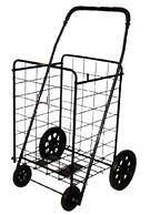Extra Large Heavy Duty Folding Shopping Cart for Grocery, Laundry
