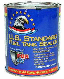POR 15 U.S. Standard FUEL TANK SEALER 8 oz. POR15 NEW