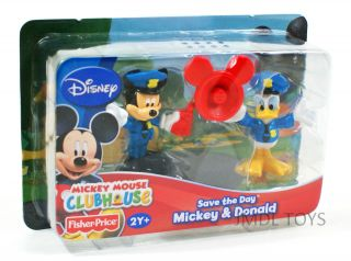 MICKEY MOUSE CLUBHOUSE SAVE THE DAY MICKEY & DONALD FIGURE 2 PACK NEW