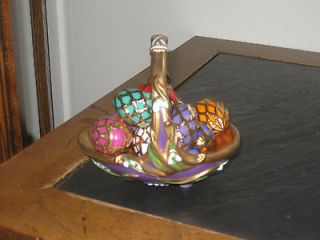 THE FABERGE AUTUMN EGG BASKET SOLD BY FRANKLIN MINT 9 EGGS Collectors