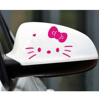 2pcs Hello Kitty Face Car Truck Motor Auto Rear View Mirror Decal
