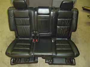 Jeep Grand Cherokee 2nd Row Rear Seat Black Leather