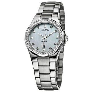 Bulova Womens 96R58 Diamond Marine Star Watch Watches