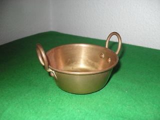 Newly listed Miniature Metal pan (Pot)   Antique   Hand Made w/handles