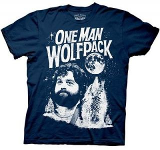 one man wolf pack t shirt in Clothing,