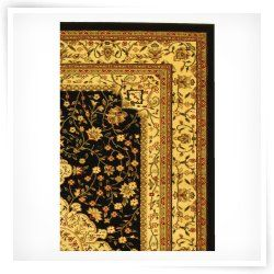 Safavieh Lyndhurst LNH213A Area Rug   Black/Cream