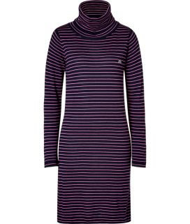 Lacoste Navy/Pink Striped Turtle Neck Dress  Damen  Kleider