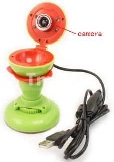 3MP Apple Shaped USB HD PC Webcam Web Camera   Tmart