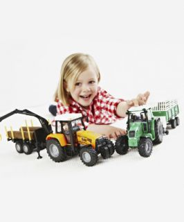 ELC FarmTractor and Trailer   farm toys & animals   Mothercare