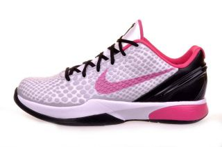 Nike Kobe VI 6 GS White Spark Pink Girls Basketball Shoes 429913 101