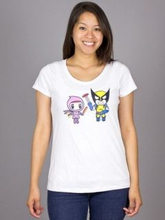 Tokidoki Wolverine Grilled T Shirt Tee Marvel Comics LADIES NWT