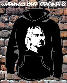 KURT COBAIN NIRVANA MUSIC HOODED TOP HOODIE NEW WB180