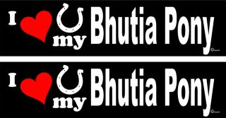love my Bhutia Pony Horse trailer bumper stickers LARGE 3 X 12
