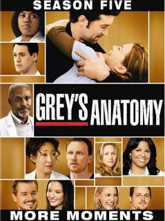 Greys Anatomy   The Complete Fifth Season DVD, 2009, 7 Disc Set