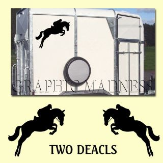 HB 03 Personalised Horse Box Trailer Sticker Decals Show Jumping Pony