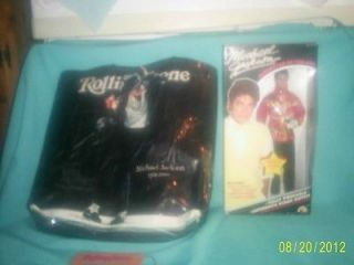 Newly listed MIB Michael Jackson Doll and Rolling Stones Tote Bag