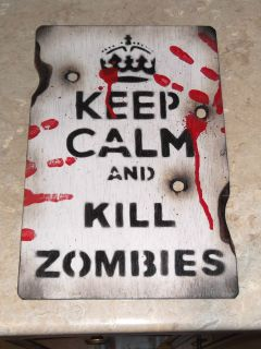 KEEP CALM KILL ZOMBIES,Paintb​all,Airsoft,ar​my,toy,boys toys,sign