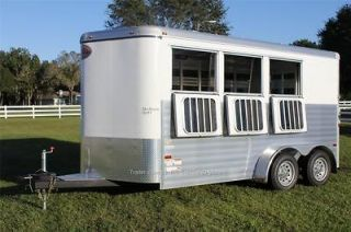 2013 SUNDOWNER STOCKMAN SPORT 3 HORSE SLANT LOAD ALL ALUMINUM TRAILER