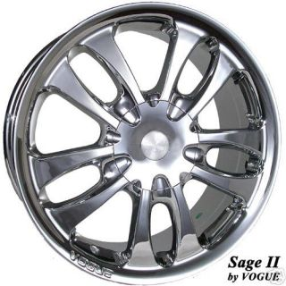 New Vogue SAGE II Chrome 17 inch WHEEL Rim Cadillac 2
