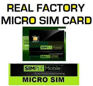 25 MICRO Simple Mobile SIM CARDS for T Mobile Phones&UNLOCKEDiPhone4