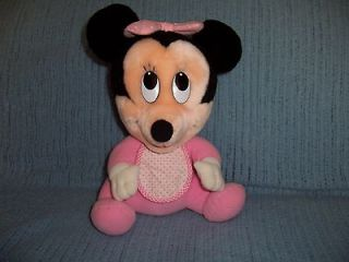 1984 Disney Characters Hasbro Softies Baby Minnie Mouse Plush Soft Toy