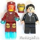 Lego Super Heroes Iron Man Minifigure & Custom Anthony Tony Edward