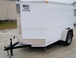 5x8 5 x 8 V Nosed Enclosed Cargo Motorcycle Landscape Utility Trailer