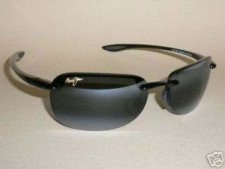 NEW Authentic MAUI JIM SANDY BEACH Sunglasses Black Frame 408 02