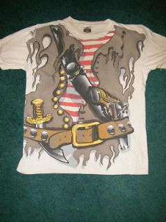 MENS PIRATE COSTUME TEE SHIRT SIZE MED 38/40