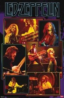 ZEPPELIN Poster   Group Collage Full Size ~ Robert Plant Jimmy Page