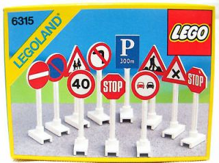 Newly listed LEGO Vintage Set 6315 Road Sign Town City System 20 years
