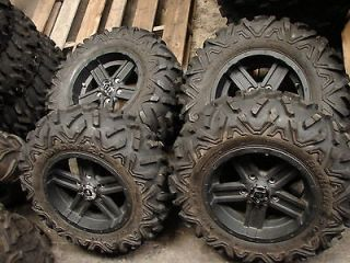 SET OF 14 JOHN DEERE GATOR 5 lug ALLOY WHEELS TIRES 27X9.00R14
