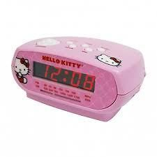Hello Kitty KT2051 AM / FM Alarm Clock Radio With Sleep Timer