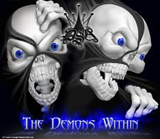 YAMAHA BANSHEE ATV GRAPHICS THE DEMONS WITHIN BLACK MODEL
