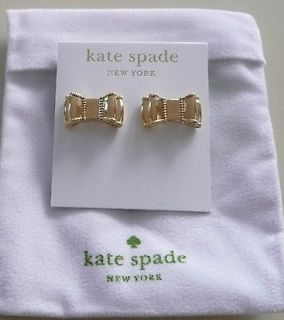 NEW with TAG KATE SPADE BOW EARRINGS PIERCED 14k GOLD FILLED