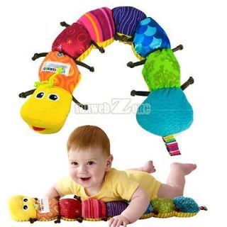 S0BZ New Fashion Colorful Musical Inchworm Soft Lovely Developmental