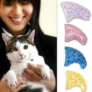 Sparkle Soft Nail Caps For Cat Paw Pet Kitten Claws with Glue 6660