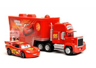 Disney Pixar CARS 2 MACK Hauler Super Liner Truck And Lightning