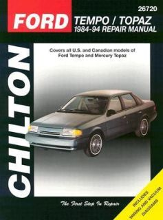 Ford Tempo and Mercury Topaz, 1984 94 by Chilton Automotive Editorial