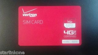 Certified 4G LTE SIM Micro Card 3FF for LG Intuition & LG Lucid