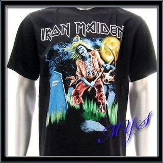 Sz M IRON MAIDEN T shirt Heavy Metal Rock Rider Skull Tour Concert