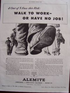 1943 Stewart Warner Alemite Lubricants & Motor Oil Advertisement
