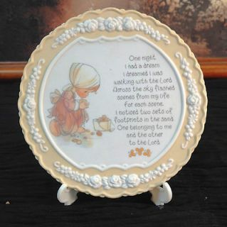 Precious Moments One Night I Had A Dream Prayer Plaque Enesco