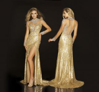 mac duggal 42745p gold exclusive pageant gown 4