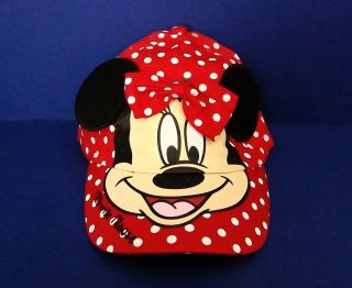 Minnie Mouse Red Polka Dot w/Ears Adjustable Girls Youth Cap/Hat MM001
