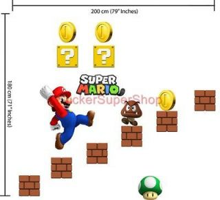 HUGE SUPER MARIO BROS Decal Removable WALL STICKER Set no. 2 BIRTHDAY