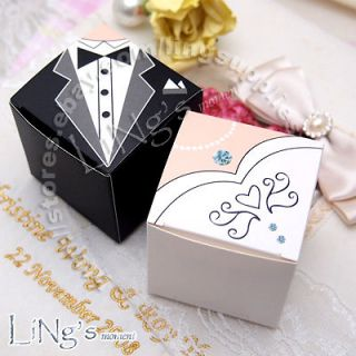 bride groom tuxedo dress decoration wedding favor gift candy box
