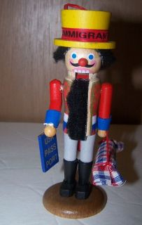 Vintage Steinbach Immigrant Wooden Nutcracker Christmas Ornament w